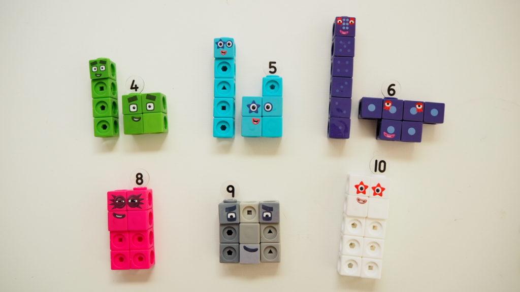 2 ways of shapes Numberblocks toy Learning Resorces mathlinkcubes blocks