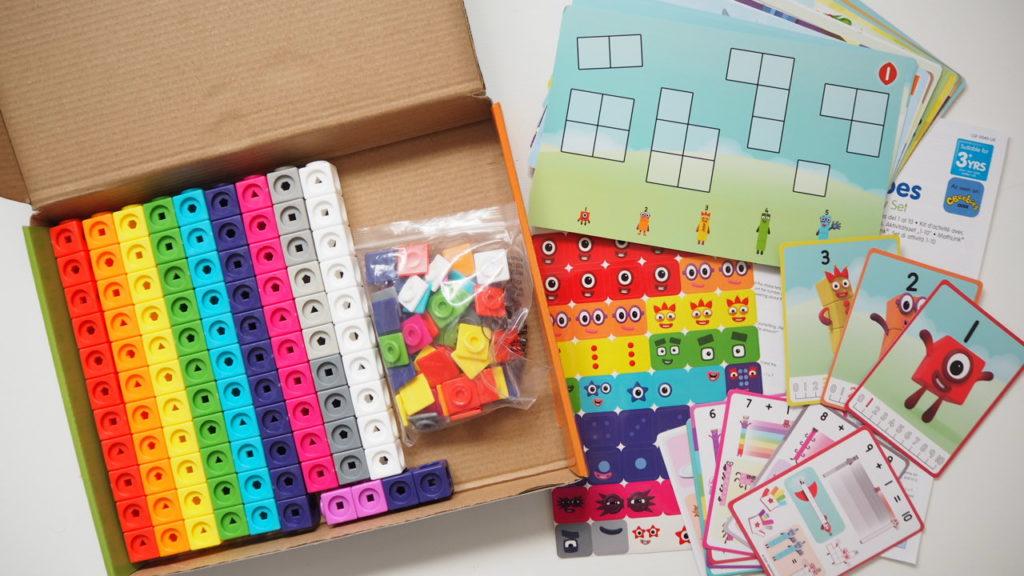 set of Numberblocks toy Learning Resorces mathlinkcubes blocks
