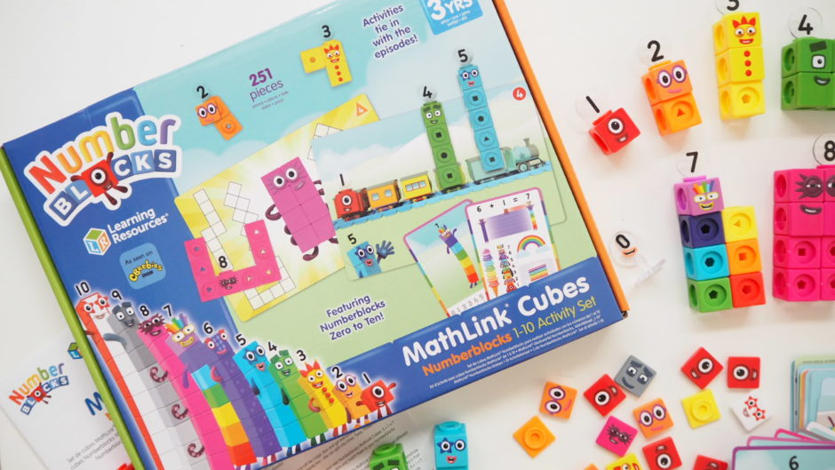 activity cards of Numberblocks toy Learning Resorces mathlinkcubes blocks